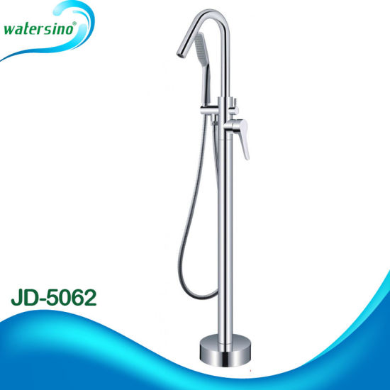 Jd-5040 Floor Mounted Luxury Bath Mixer Brass Bathtub Faucet for Bathtub pictures & photos