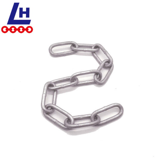 7mm DIN5685c Hot-DIP Galvanized Metal Long Link Chain