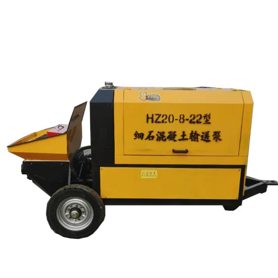 22kw Small Mobile Concrete Mixer Pump for Building