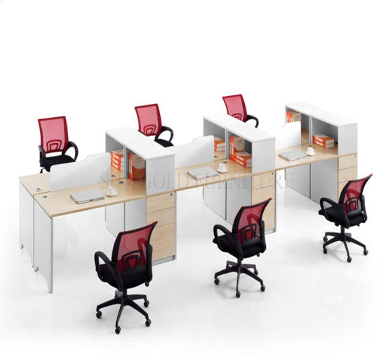Melamine Modular Office Workstation (SZ-WS304) pictures & photos