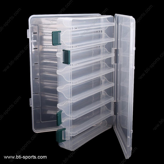 14 Compartments Double Sided Transparent Clear Plastic Fishing Lure Tackle Boxes pictures & photos