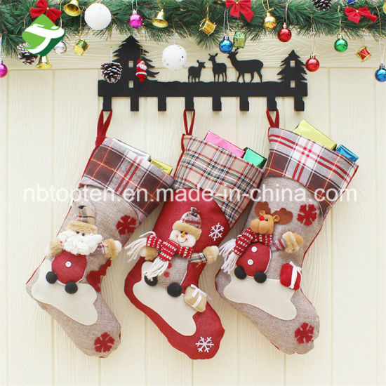 Factory Direct Personalised Christmas Santa Snowman Reindeer Stocking pictures & photos