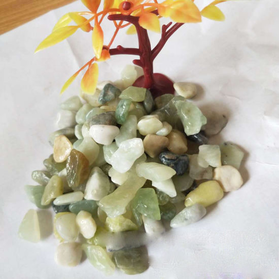 Green Jade Tumbled Pebble Stone for Garden Landscaping Decoration