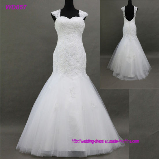 Satin Fabric Type And Bride Use Mermaids Wedding Dress