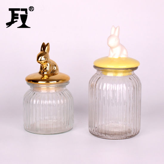 Food Glass Jar with Ceramic Lids pictures & photos