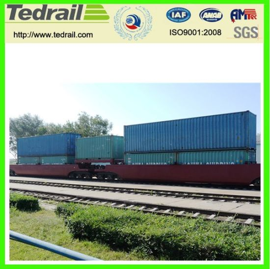 Depressed Center Flat Wagon for Heavy Goods