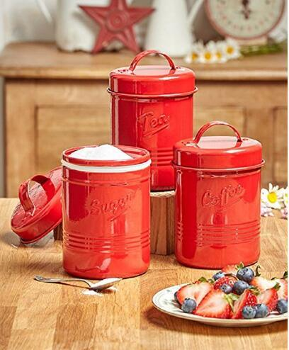 Small Kitchen Canisters for Sugar Tea Coffee Metal Tin pictures & photos