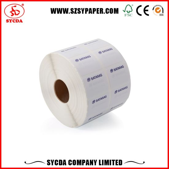 Different Size Thermal Self Adhesive Label with Barcode pictures & photos