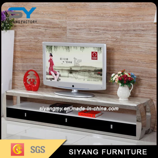 Living Room Cabinet TV Table Marble TV Stand for Home pictures & photos