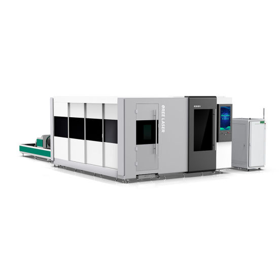 Jinan Factory Fully Enclosed P3015 European Standard Machine for Steel with CE and Exchange Table 1kw 6000W Double Platform Tube Fiber matal Laser Cutter