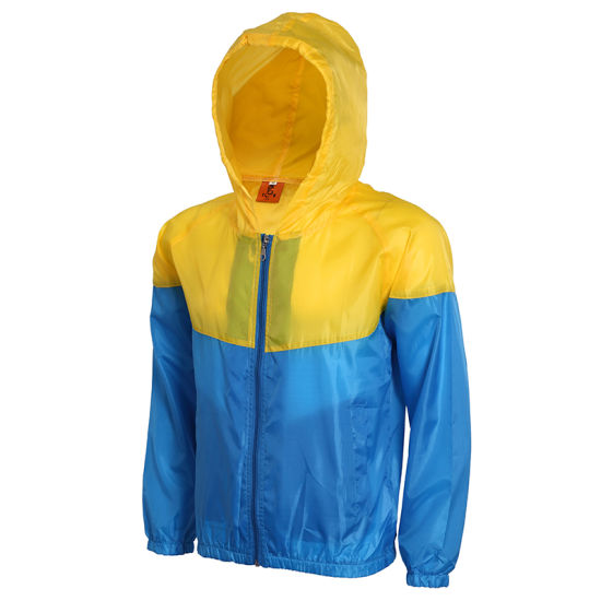 Customized Contrast Color Waterproof Outdoor Sporting Thin Casual Windbreaker Jacket pictures & photos