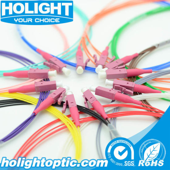 Free Sample LC/Upc Om4 12 Colors Fiber Optic Pigtail