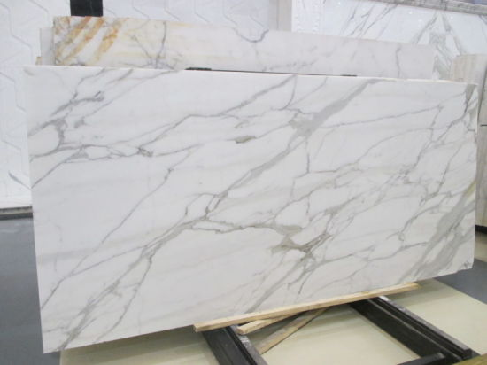 China Calacatta White Marble Polished Tiles Slabs Countertop