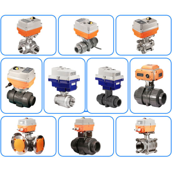 High Performance 3 Way Stainless Steel 304 Motorized Ball Valve
