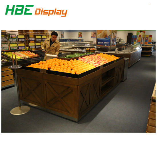 Folding Metal Vegetable Fruit Display Rack for Retail Shop pictures & photos