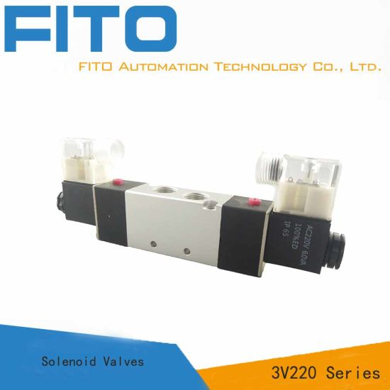 """1//8/"""" Inch Pneumatic 4 Way Electric Directional Control Air Solenoid Valve 24V AC"""