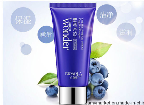 China Bioaqua Wonder Blueberry Essence Mild Natural Face Cleaning Cream Facial Cleanser - China Face Cleaning Cream, Facial Cleanser