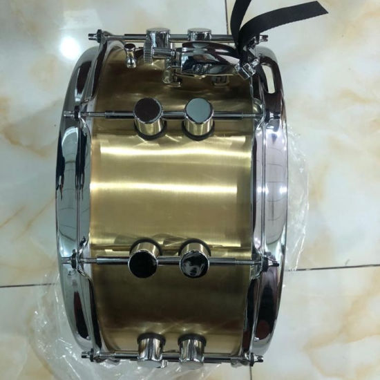 14*6.5 Brass Snare Drum Percussion with Brand Gammon with Drum Bag