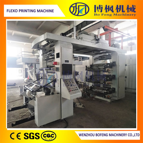 New Type Six Color Flexo/Flexographic Printing Machine with Ce Certification