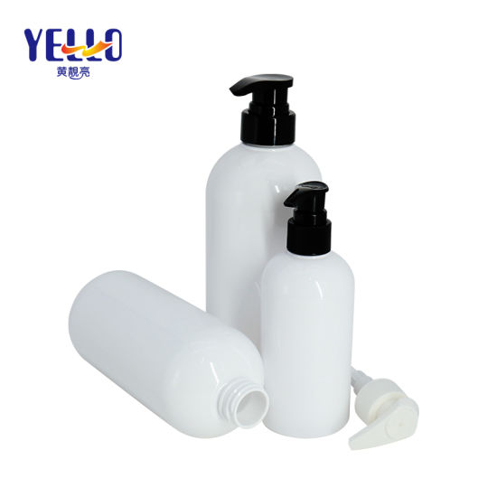 Bulk Price Empty White Cosmetic Container Pet Plastic Shampoo Bottle