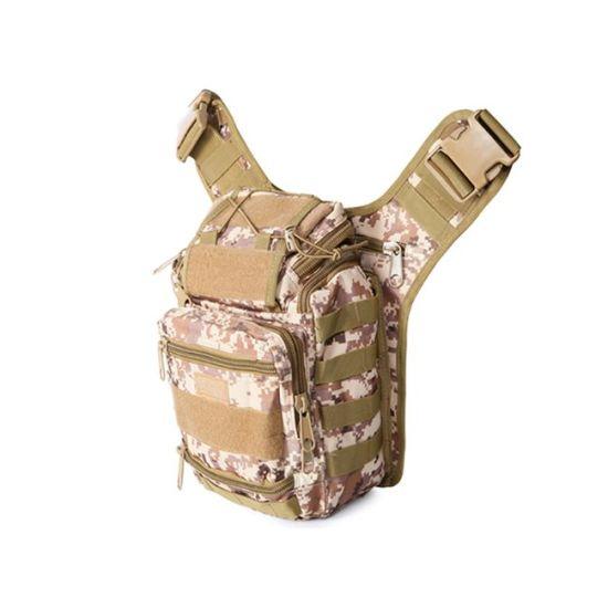 Men Camo Camping Shoulder Multifunctional Army Tactical Outdoor Military Saddle Bag