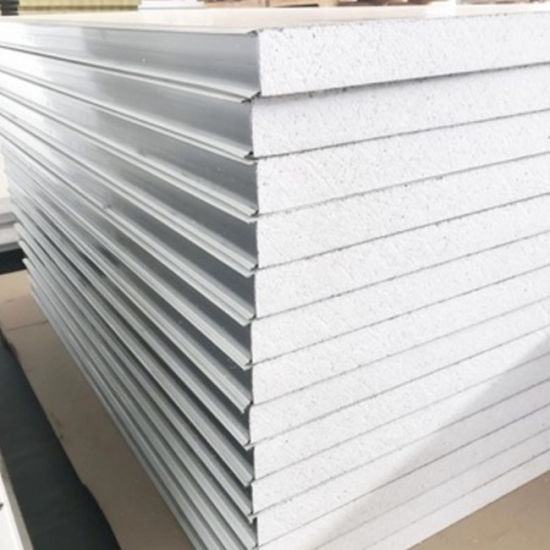 Wall and Roof EPS Polystyrene Sandwich Panel for Warehouse/Factory/Container House/Prefabricated Houses pictures & photos