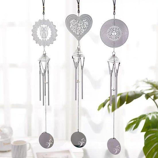 Stainless Steel Wind Spinner Garden Ornament Hanging Wind Spinner