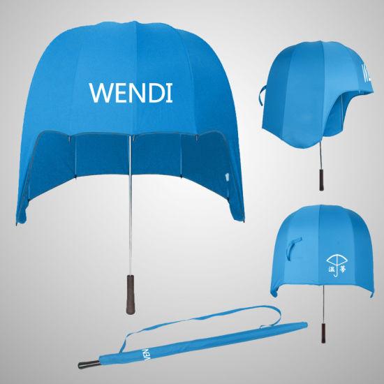 Creative Vertical Helmet Umbrella Sunshade Sunshade Large Windproof Umbrella Advertising Umbrella Gift Customization