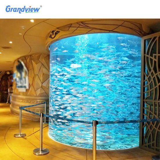 Large Round Acrylic Shark Aquarium Free Fish Tank