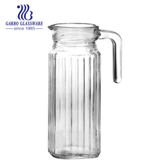 China 1 0l Clear Glass Water Pitcher With Lid Gb1102h China Glass Water Pitcher And Glass Jug Price