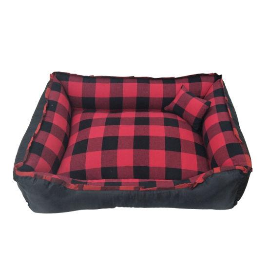 Wholesale Plaid Dogs Application Pretty Luxury Pet Dog Bed Waterproof