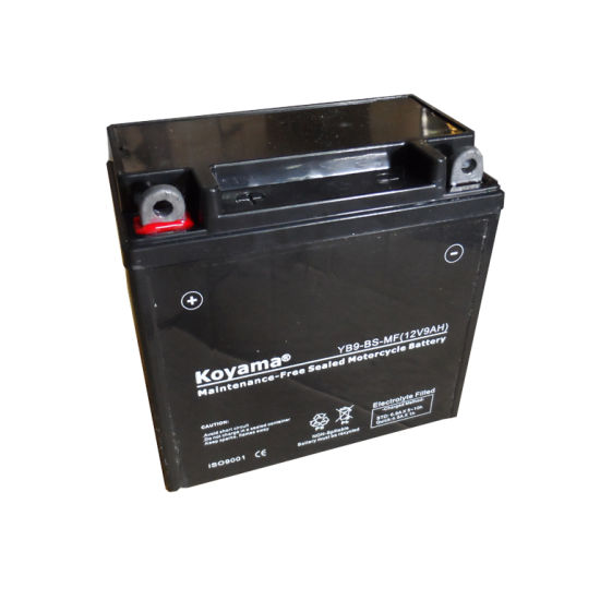 Yb9-BS/12n9-BS Valve Regulated Lead Acid AGM Motorcycle Battery 12V 9ah pictures & photos