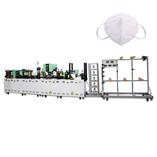 High Efficient Automatic KN95 Mask Machine Disposable 5 Layers Non Woven Surgical N95 Face Mask Making Machine Factory Supply