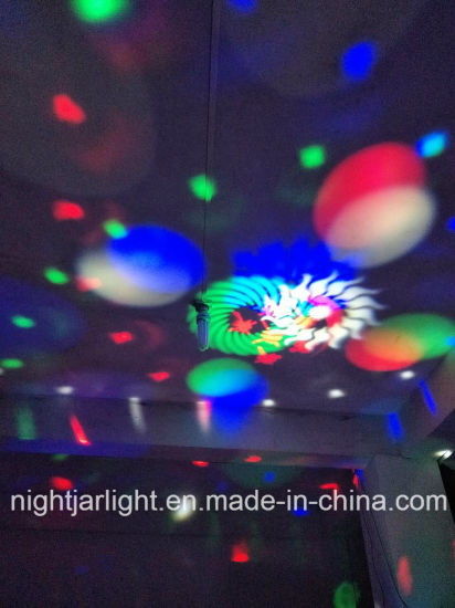 12*3W Gobo Pattern with Laser Beam LED Magic Ball Rotating Effect Light pictures & photos
