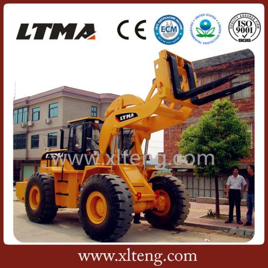 China New Marble Granite Stone Block Handler 16 Ton Forklift