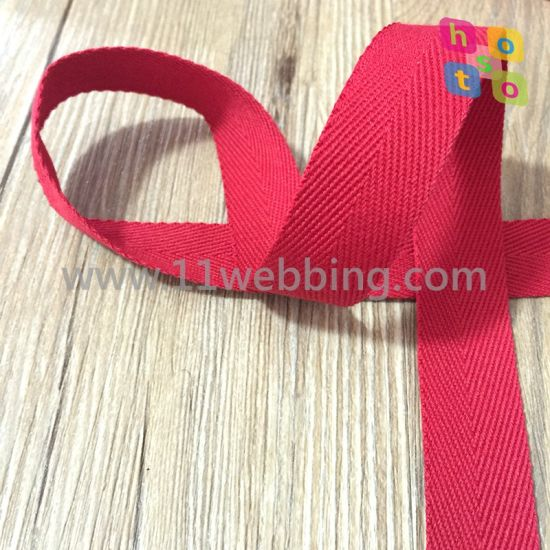 Factory Direct Spot Goods Cotton Herringbone Webbing for Binding Tape pictures & photos