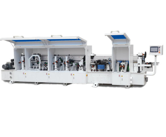 High Grade 2018 New Model Woodworking Automatic Edge Banding Machine with Pre Milling and Corner Trimming