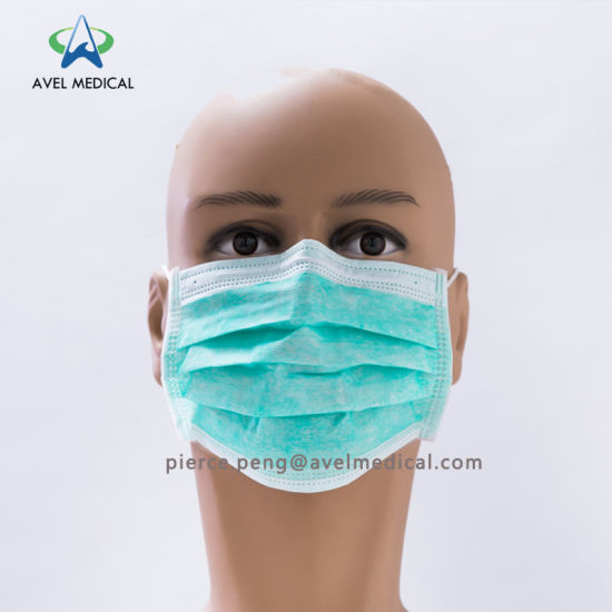black medical face mask disposable