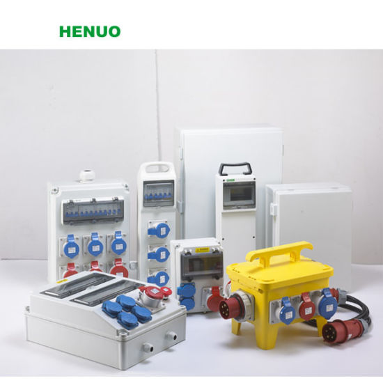 Plastic Electric Industrial Socket/Outlet Box with Breaker Remote Control Plastic Enclosure