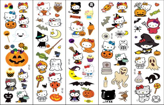 Fashion Cartoon Tattoo Stickers for Halloween Party/Celebration/Festival/Ceremony pictures & photos