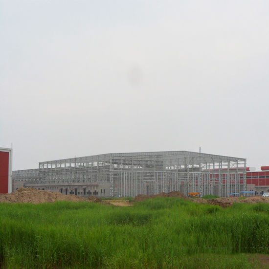 Heavy Steel Prefabricated Construction Warehouse
