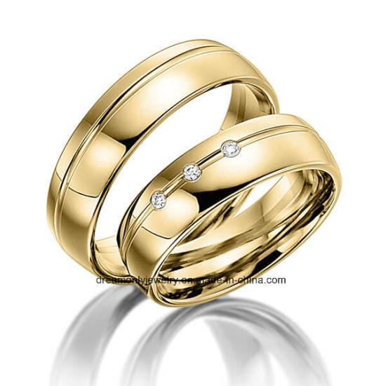 China Oem Odm 14k 18k Gold Wedding Rings Brass Wedding Ring Couple