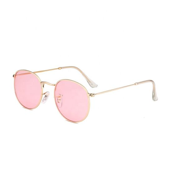 2019 Fashion New Designer Sunglasses for Woman Fashion Square Metal Colorful Sunglasses Italy Design Low MOQ Stock
