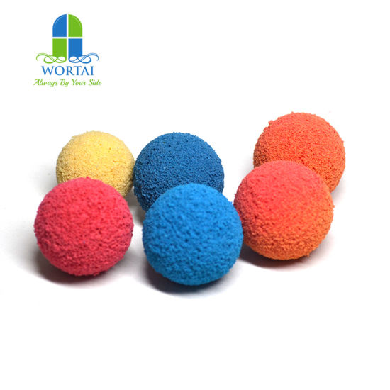 Customized Ordinary Peeling Pipe Cleiang Ball Polishing Cleiang Sponeg Ball pictures & photos