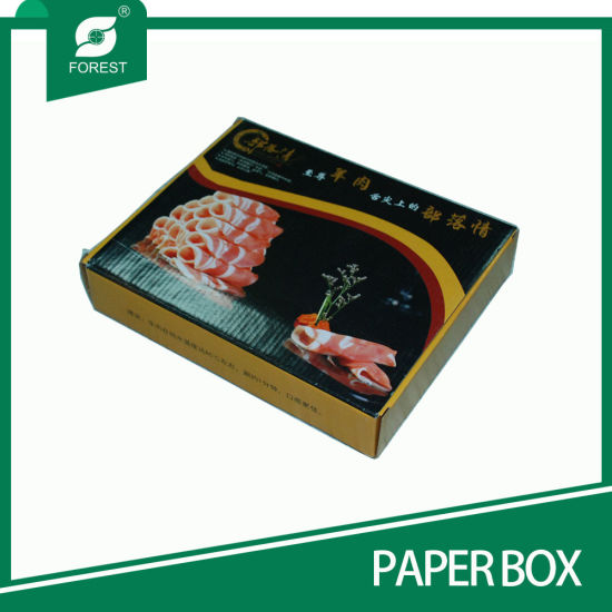 Tuck Top Corrugated Meat Packaging Paper Box with Window