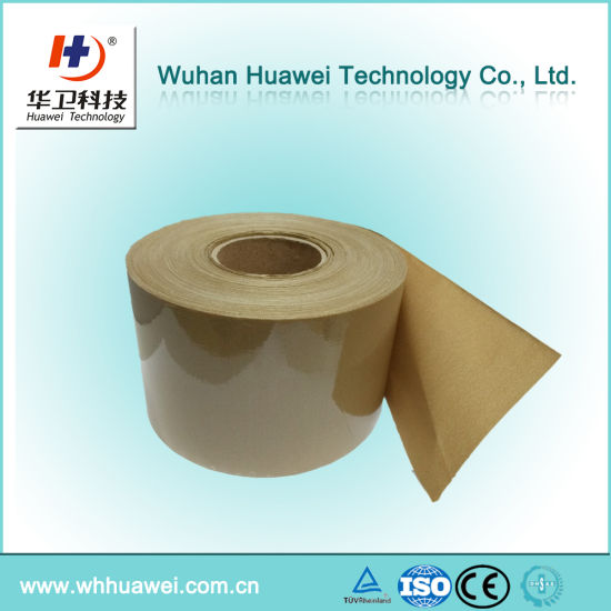 Medical Skin Color Elastic Fabric Material for Band Aid. Adhesive Fabric Jumbo Roll Material. Raw Material for Plaster Fabric Band Aid.
