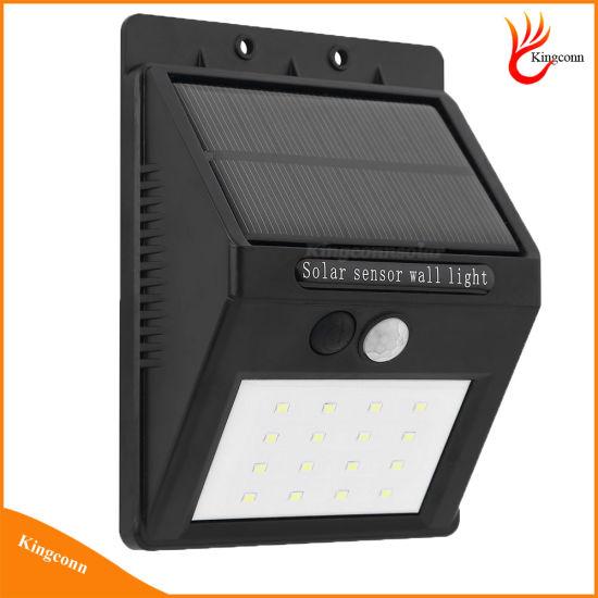 LED Solar Lamp PIR Human Motion Sensor Solar Light for Outdoor Path Wall Lamp Security Spot Lighting