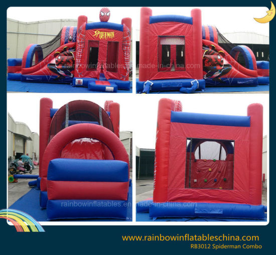 Inflatable Super Man Jumping Bounce Castle for Kids pictures & photos