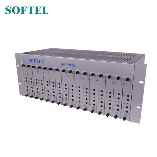 4u 16 in 1 Agile CATV RF Modulator 16 Channels