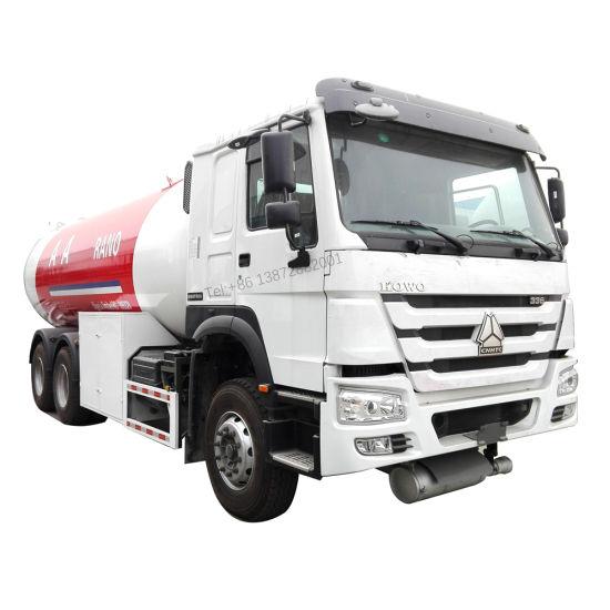 Sinotruk HOWO 6X4 6X6 24000liters 25000liters LPG Truck with LPG Dispenser